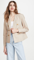 James Perse Soft Double Breasted Blazer