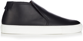 Givenchy Mid-top leather slip-on trainers