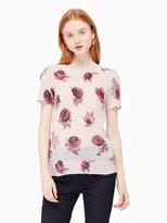 Kate Spade Encore rose printed sweater