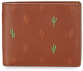 Fossil Kenny RFID Cactus Embossed Bifold Wallet