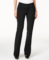 Alfani Petite Faux-Leather-Trim Wide-Leg Trousers, Only at Macy's