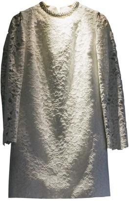 Saint Laurent White Lace Dress for Women