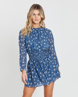 Atmos & Here Long Sleeve Floral Mini Dress