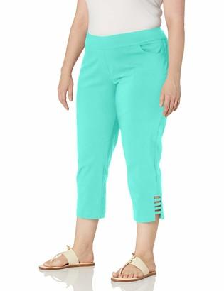 Slim Sation SLIM-SATION Women's Plus Size Solid Crop Pant