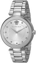 Versace Women's VQR050015 Mystique Analog Display Quartz Silver Watch