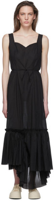 Marni Black Ruffled Long Dress