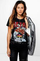 Boohoo Elena Printed Metal Band T-Shirt