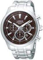 Lorus Rt359ax9 Chronograph Date Bracelet Strap Watch, Silver/brown