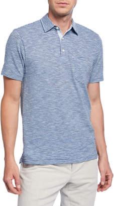 Faherty Men's Heathered Stripe Polo Shirt