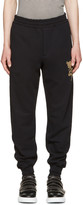Alexander McQueen Black Beaded Floral Classic Lounge Pants