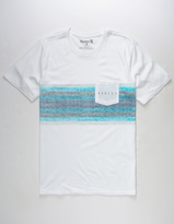 Hurley Stripe Mens Pocket Tee