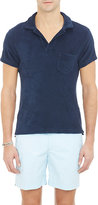 Orlebar Brown Men's Terry Polo Shirt-NAVY