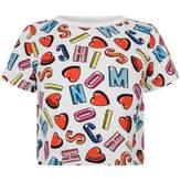 Moschino MoschinoGirls Logo & Hearts Print Top
