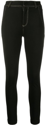 Versace Contrasting Stitching Leggings