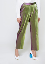 Dries Van Noten Green Metallic Penny