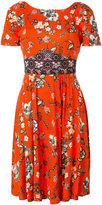 Twin-Set lace panel floral dress - women - Spandex/Elastane/Viscose - L