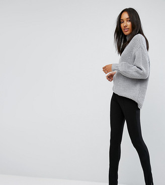 Asos Tall TALL Super High Waist Skinny Pant with Ankle Zips-Black