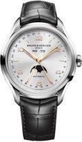 Baume & Mercier Men's Swiss Automatic Clifton Black Leather Strap Watch 43mm M0A10055