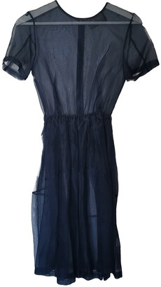 Antipodium Navy Silk Dress for Women