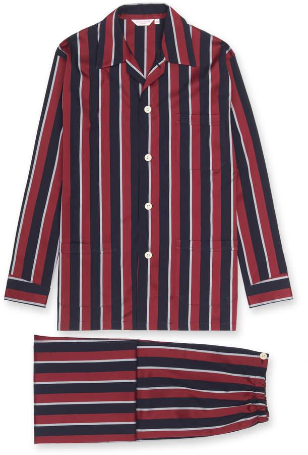 Derek Rose Men's Classic Fit Regimental Stripe Pajamas