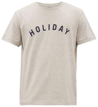 Holiday Boileau Logo-print Cotton T-shirt - Mens - Grey