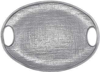Mariposa Linen Oval Tray