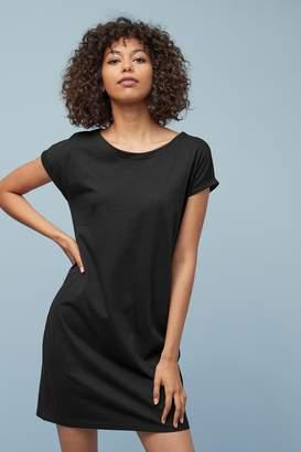 Next Womens Black Jersey Boxy T-Shirt Dress - Black