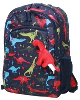 "Crckt 16.5"" Kids' Dinosaur Print Backpack - Navy/Red"