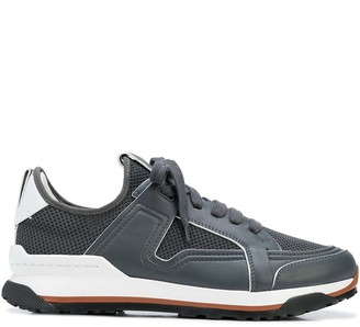 Ermenegildo Zegna Leather-Trimmed Low-Top Mesh Trainers