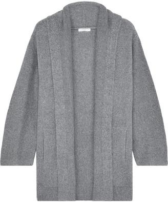 Vince Melange Brushed Cotton-blend Cardigan