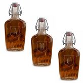 Lillian Rose Lillian RoseTM Monogram Clear Glass Flask