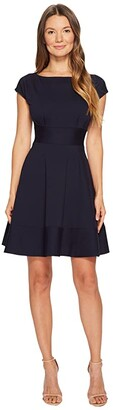 Kate Spade Ponte Fiorella Dress (Black) Women's Dress