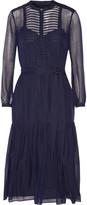 Burberry Striped wool and silk-blend dress