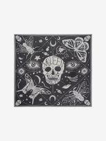 Alexander McQueen Silk Chiffon Zodiac Skull Scarf
