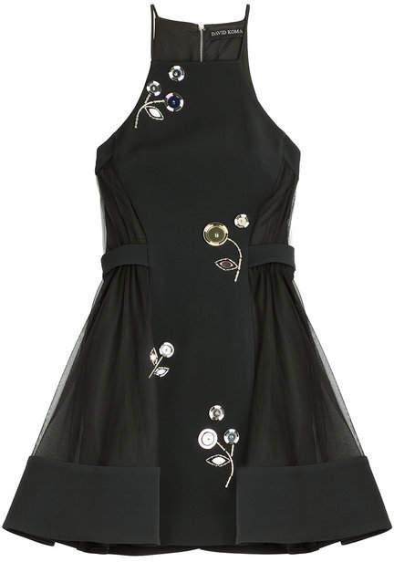 David Koma Embellished Dress