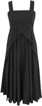 Onelady Cotton Midi Dress Black - Delia