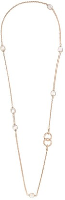 Pomellato 18kt rose and white gold Nudo mother-of-pearl and white topaz necklace