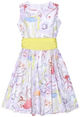 Il Gufo Printed cotton dress