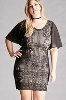 Forever 21 FOREVER 21+ Plus Size Soieblu Baroque Dress