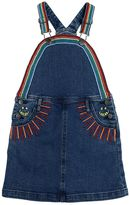 Stella McCartney Embroidered Stretch Denim Overall Dress
