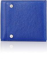 Balenciaga Men's Arena Classic Square Wallet-BLUE