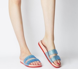 Melissa Opening Ceremony Flipp Sandals Blue Contrast