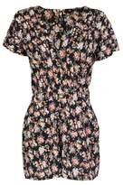 Select Fashion Fashion Womens Orange Ditsy Floral Playsuit - size 6