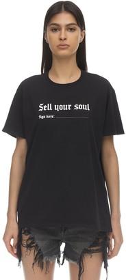 R 13 Printed Cotton T-Shirt