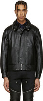 Saint Laurent Black Leather Slouchy Jacket