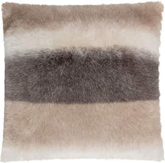 Gouchee Design Skins Stripe Faux Fur Cushion