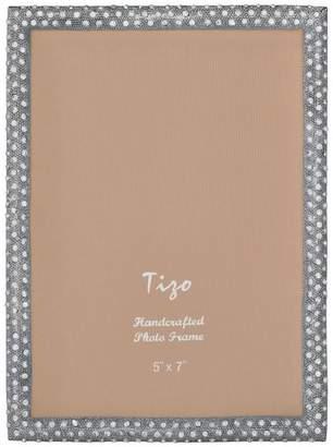 "Tizo Designs Jeweled Silver Photo Frame, 4""x6"""