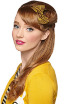 Darlin' Detail Hair Clip in Yellow Houndstooth