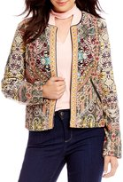 Chelsea & Theodore Quilted Embellished Jacket
