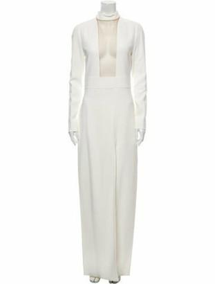 Tom Ford Mock Neck Long Dress White